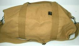 Canvas Shoulder Duffle Bag, 19 Inch Coyote Brown 19 x 9 New