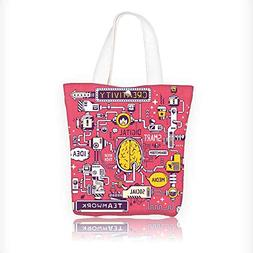 Canvas Tote Bag vector model work brain center of the compan