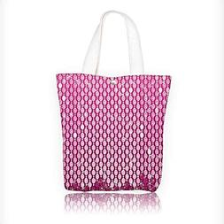 Canvas Tote Handbag Collection Stylish Vertical Crystal Diam