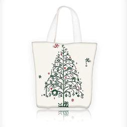 Canvas Tote Handbag Fairies with Wands and Chirstmas Tree St
