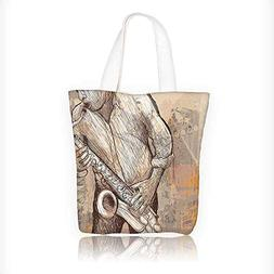 Canvas Tote Handbag ian Playing the Saxophone Solo in the St