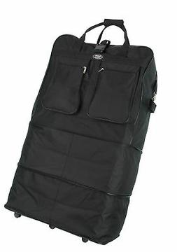 """Charlie Sports 40"""" Rolling Wheeled Duffel Bag Spinner Suitca"""