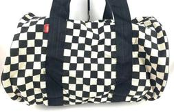Vans Checkerboard Checkered Duffle Bag Off White Black Shoul