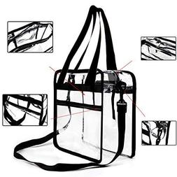 Youngever Clear Bag 12 X 12 X 6, Stadium Approved, Clear Tot