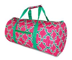 Colorful Geometric Print Duffle Duffel Bag Travel Gym Overni