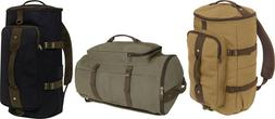 Cotton Canvas Convertible Duffle Carry Weekender Travel Bag