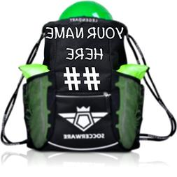 Custom Personalized Soccer Bag Backpack - XL Capacity Youth