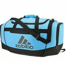 Adidas Defender III Small Duffel Gym Bag Baby Blue/Black