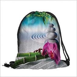 Draw pocket Polyester Backpack chid and Massage Stes in Zen