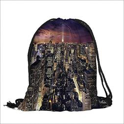 Travel Drawstring Closure Bag Offices High Tall Tower Traffi