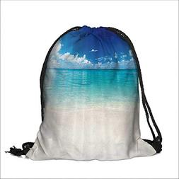 Drawstring Polyester Pocket coastal sand sea ach Cariban Sea