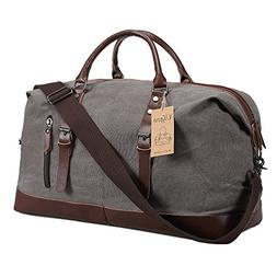 Ulgoo Duffel bag Oversized Canvas Travel Bag PU Leather Week