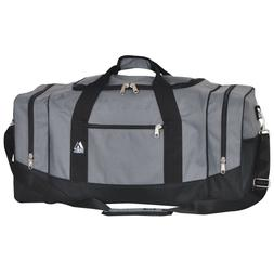 EVEREST Duffel Bag Spacious Sporty Zippered Clam-Shell Openi