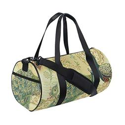 OuLian Duffel Bags Hoffman Royal Peacocks Antique Womens Gym
