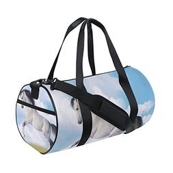 OuLian Duffel Bags Majestic White Horse Womens Gym Yoga Bag