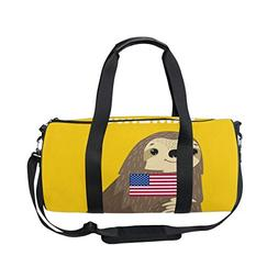 OuLian Duffel Bags Sloth Welcome To America Womens Gym Yoga