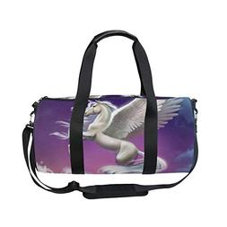 OuLian Duffel Bags Wing Horse Womens Gym Yoga Bag Small Fun