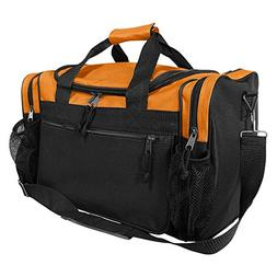 "DALIX 17"" Duffle Bag Dual Front Mesh Pockets in Orange"