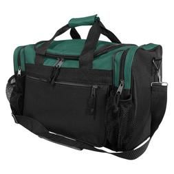 "DALIX 17"" Duffle Bag Front Mesh Pockets in Green"