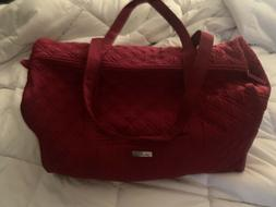 vera bradley duffle bag large red