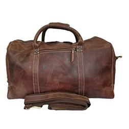 New Outdoor Travel Large Duffle Buffalo Hunter Leather Carry