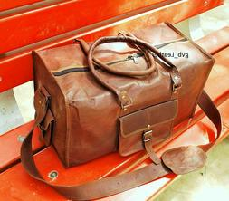 Duffle Luggage Gym Weekend Men Handmade Holdall Bag Humanize