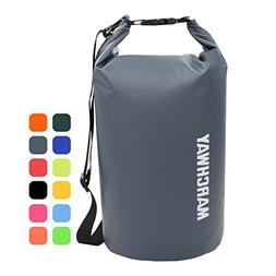 MARCHWAY Floating Waterproof Duffel Dry Bag Backpack 5L/10L/