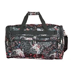 World Traveler Floral Duffel Bag, Rose Lily, One Size