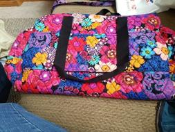 VERA BRADLEY Floral Fiesta Triple Compartment Travel Bag