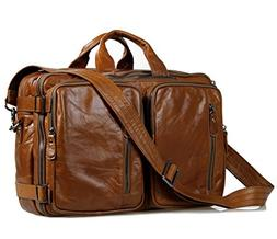 Genuine Leather Travel Duffel Bag Weekend Sport Oversize Han
