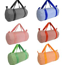 Gingham Travel Duffel Duffle Bag for Luggage Gym sports