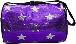 Girls Dance Duffle Sequin Star Bag with Shoulder Strap Choos