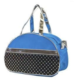 Girls Toddler Mini Dance Cheer Duffle Duffel Bag Sequin Blue aee94ba7daf92