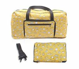 Finex Gudetama Foldable Travel Duffle Bag Strap to carryon l