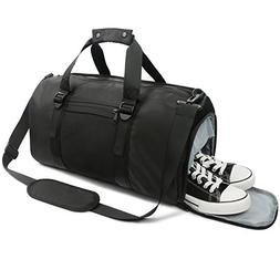 Oflamn Sports Gym Bag with Shoes Compartment Wet Pocket Ligh