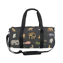 OuLian Gym Bag Cute Animals Women Yoga Canvas Duffel Bag Cut