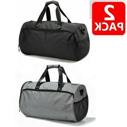 2x Gym Bag for Men Women Duffel Bag with Shoes Compartment W