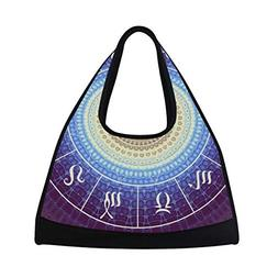 OuLian Sports Gym Bag India Mandala Constellation Duffel Bag