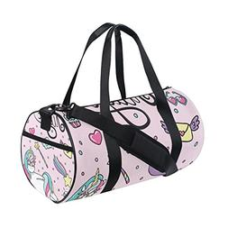 Sports Gym Bag Magic Unicorn Wand Heart-Sunglasses Packable 8ea963c5d4