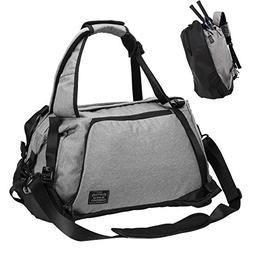 Sports Gym Bag, Lifeasy 3 in 1 Travel Duffle Bags with Shoes