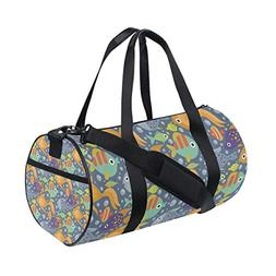 ec0775dad8 Gym Duffel Bag Tropical Ocean Fish Sports Lightweight Canvas