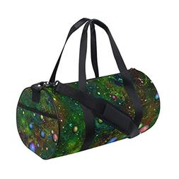 Gym Duffel Bag Universe Nebula Space Planet Sports Lightweig