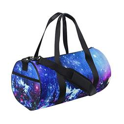 Gym Duffel Bag Universe Nebula Starry Galactic Sports Lightw