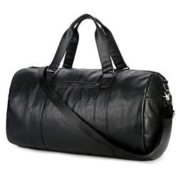 BAOSHA HB-02 PU Leather Travel Bag Weekender Overnight Bag C