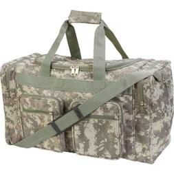 "21"" Heavy Duty CAMO Tote Bag Water Resistant Gym Duffle Hunt"