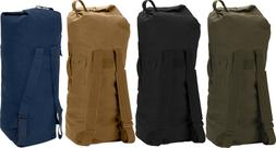 Heavy Duty Top Load Duffle Bag Backpack with Double Straps ,
