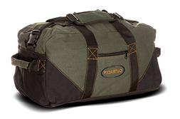 Ledmark Heavyweight Cotton Canvas Outback Gym Bag, Black/Gre