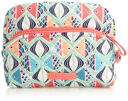 Vera Bradley Iconic Medium Cosmetic, Go Fish,One size