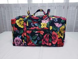 Vera Bradley Iconic Large Duffel Bag Travel Havana Rose NWT