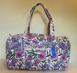 Vera Bradley Iconic Large Travel Duffel Bag Lavender Meadow